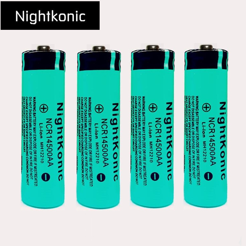 4 PCS/LOT 14500 Rechargeable Battery 3.7V Li-ion Rechargeable Battery for flashlight