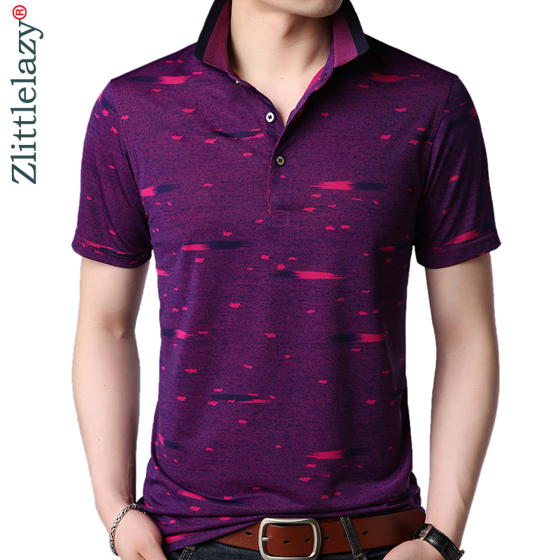 2019 Fashions Short Sleeve Polo Shirt Men Clothes Mens Slim Fit Striped Pol Tee Shirts Poloshirt Summer Polos Streetwear 2988