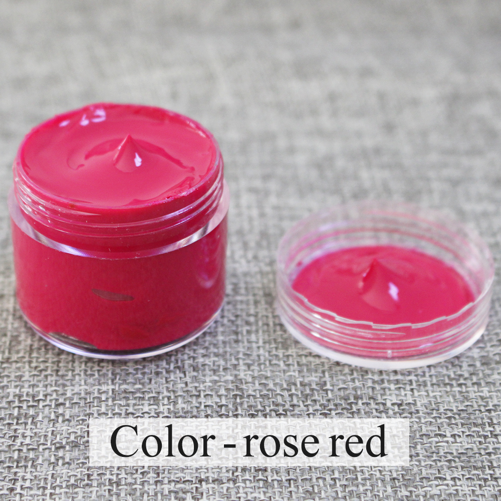 Rose Red Leather Paint Specially Used For Painting Leather Sofa, Bags, Shoes And Clothes Etc With Good Effect30ml,free Shipping