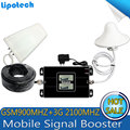 2016 New type!1 set Bual band GSM 900/2100mhz Smart Mobile Phone Signal Booster WCDMA 3G Cell phone Signal Repeater with LCD