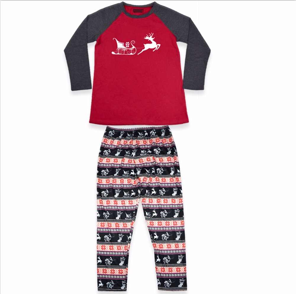 fe8560f47d1 ... Family Matching 2018 Christmas Pajamas Kids Baby Boys Adult Deer Pajama  Sets Children s Pajama For Couples ...
