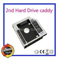 Segundo DISCO Duro SATA Hard Disk Drive caddy para Dell Studio XPS 13 1340 XPS 15 L521x Laptop dvd Envío Gratis