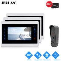 JERUAN 1 0MP 720P Motion Detection 7 Inch LCD Video Door Phone Intercom System 3 Record