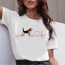 Bull Terrier Rottweiler Kawaii T Shirt Women Beagle Border Collie Malinois Funny T-shirt Cute Whippe