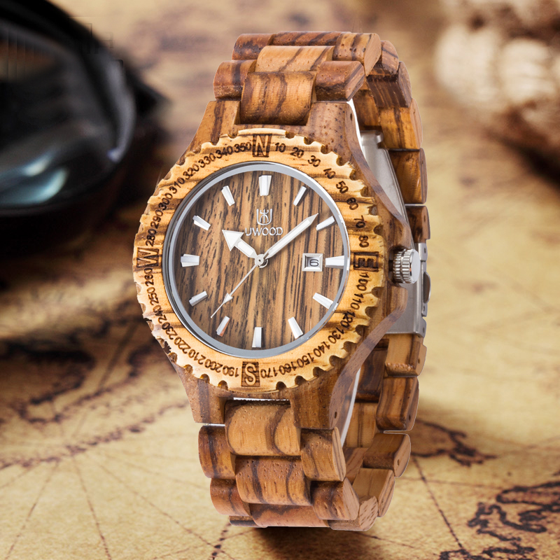 Top Brand Luxury Dress wood Watches Men Natural Eco Wooden Japan Movement Casual Wood Watch Man Clock Calendar Bracelet Clasp bobo bird brand new sun glasses men square wood oversized zebra wood sunglasses women with wooden box oculos 2017
