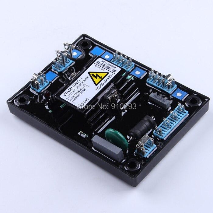 AS440 monophasé 3 phases régulateur de tension universel ac diesel alternateur AVR contrôlé module de stabilisateur de contrôleur de puissance électrique