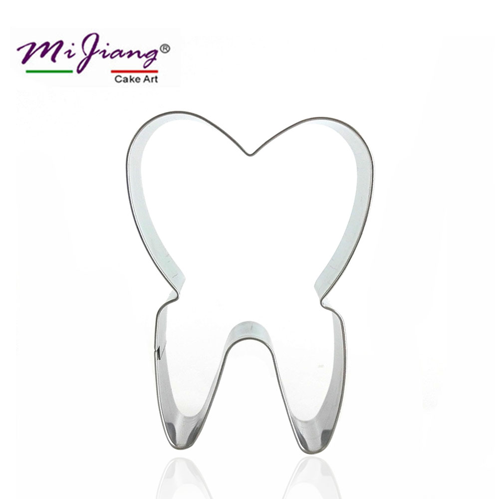 Mijiang Tooth Shaped Stainless Steel Biscuit Cookie Cutter Fondant Cake Mold Baking Pastry Tools for Cakes Decoration S7058
