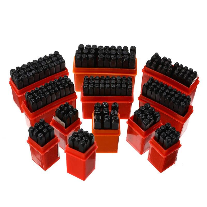 1 Set Leder Buchstaben Anzahl Digitale Werkzeuge Brief Alphabet Punsch Werkzeug Handwerk Stempel Carving Rindsleder Diy Leatherwear Druck Box
