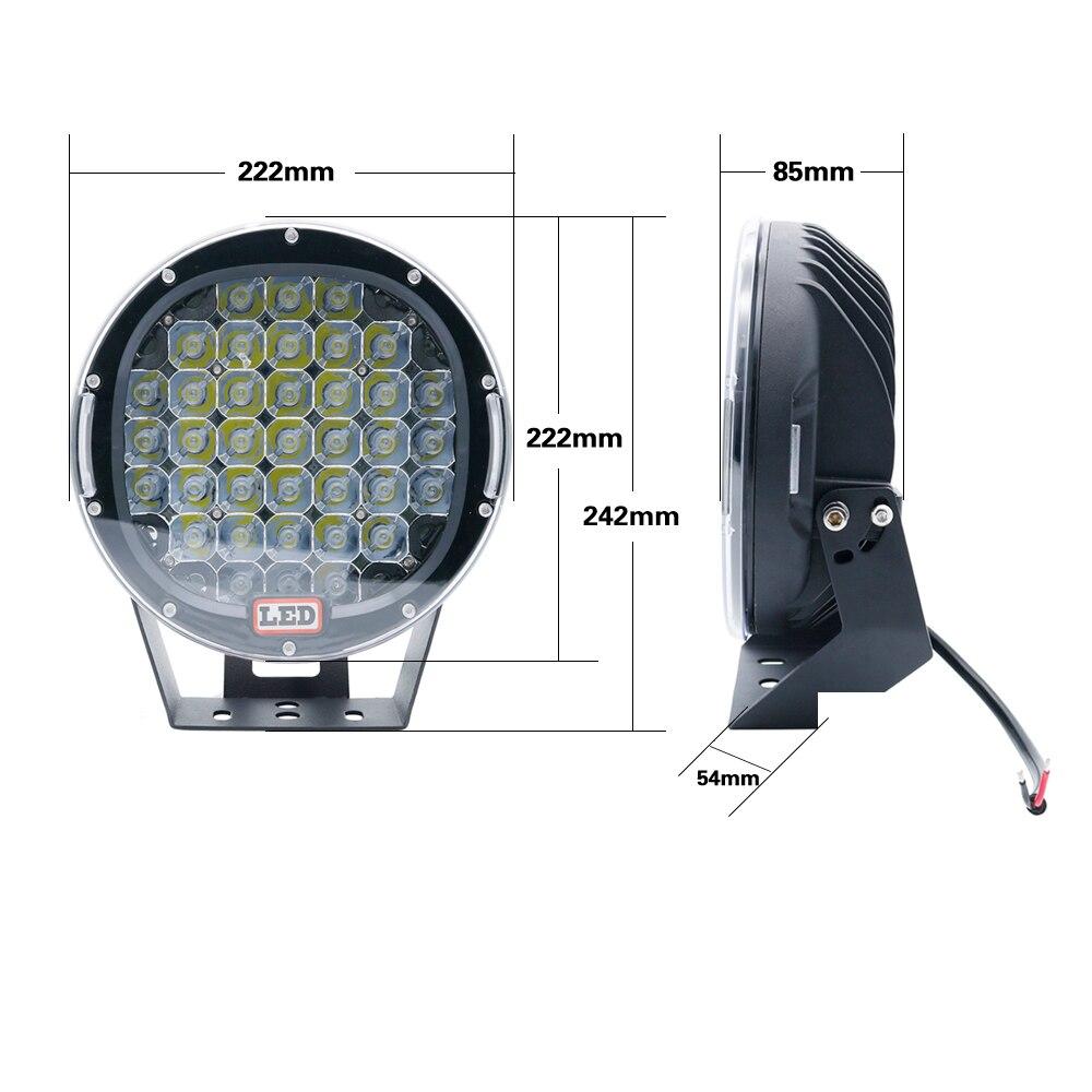 2PCS 9 Inch Led Work Light 12V 24V Spot Flood Offroad Light Bar Indicators For SUV Car Truck Bus Boat Tractor Working Lights (11)