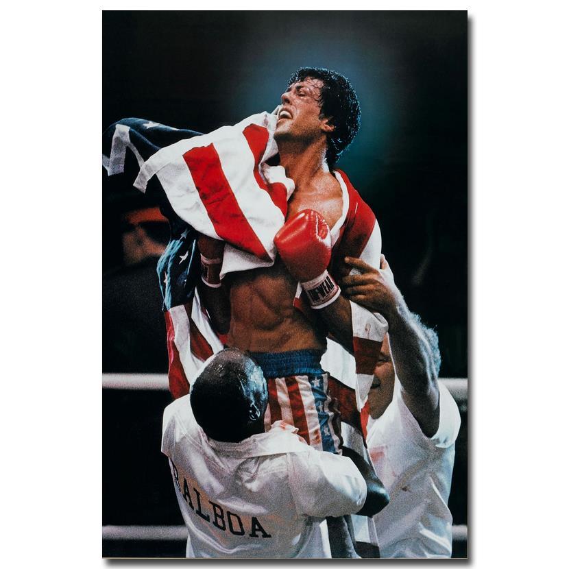 Rocky Balboa Motivational Quotes Silk Cloth Poster 13x20 inch Decor 001
