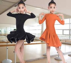 Новое Детское платье для латиноамериканских танцев костюм Дети конкурс бальных танцев лайкра для девочек Salsa румба, ча-ча-ча Samba Танго