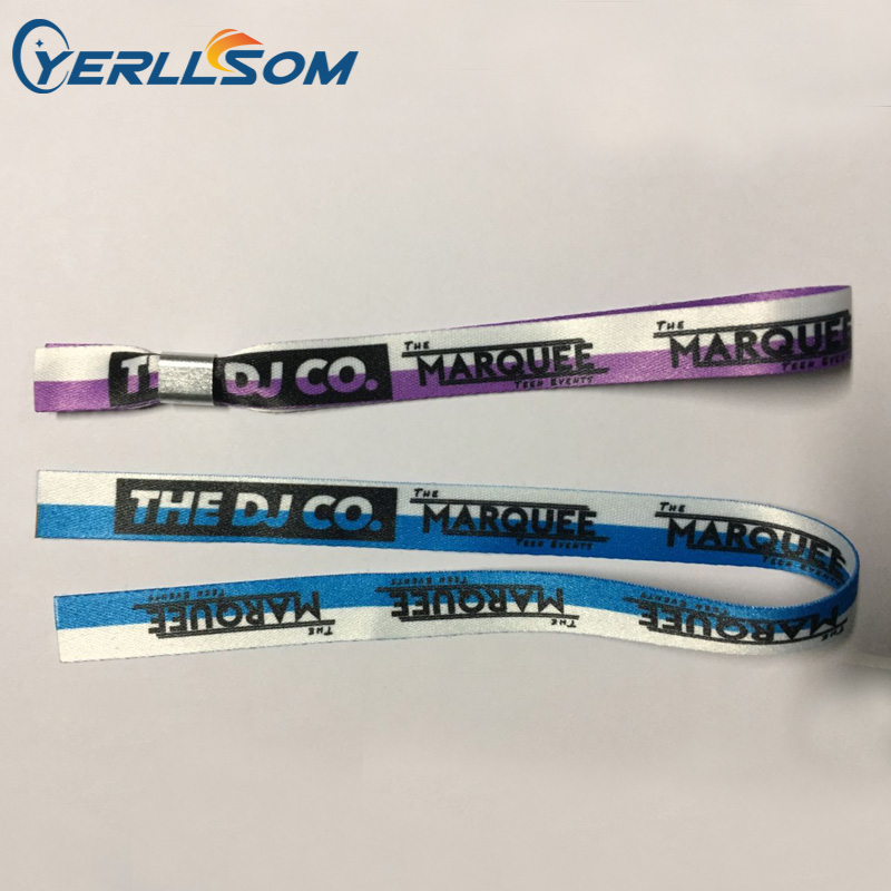 YERLLSOM 300PCS lot Customized Personalized printing logo fabric wristbands bangles for gifts FY122003