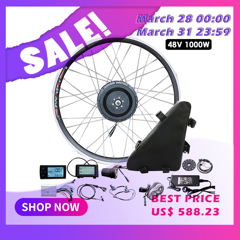 JS Electric Bike Kit 1000W 48V Motor Wheel 500W For Bicycle Hub Motor Ebike Bicicleta Electrica Motor Electric Bicycle MTB Bike