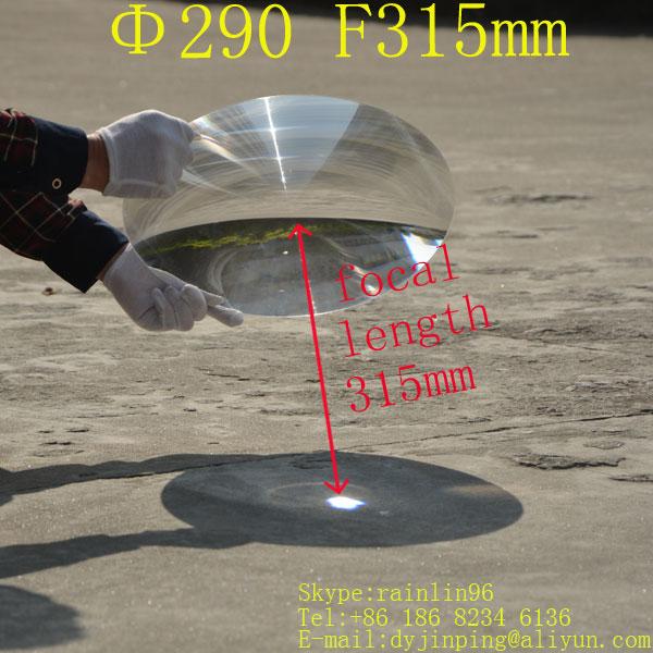 Diameter 290 focal length 315mm Fresnel lens stage lighting condenser lens thread traffic light lens magnify lens