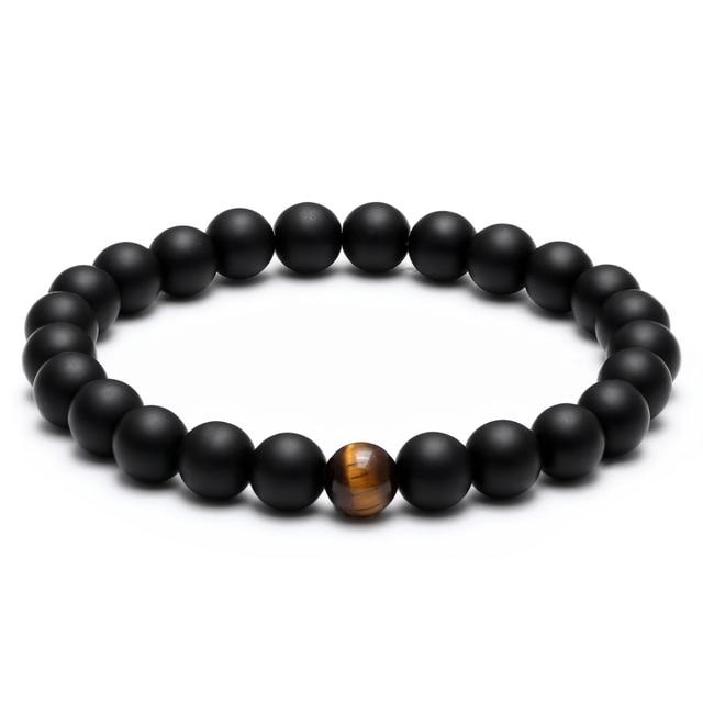 Bracelet Perle Noir Et Blanc