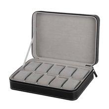 Case Wristwatch-Box Classic 10-Grids Storage-Bag Jewelry Protect Travel Zipper Sport