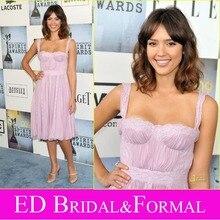Jessica Alba Kleid zu 2009 Film Independents Geist Awards Roter Teppich Knielangen Short Celebrity Cocktail Party Kleid