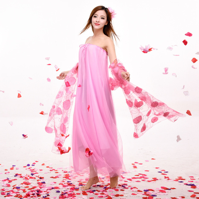 9746bc783cc4 New Design Sexy Dance Dress Chinese Folk Dance Costumes Pink Hanfu ...