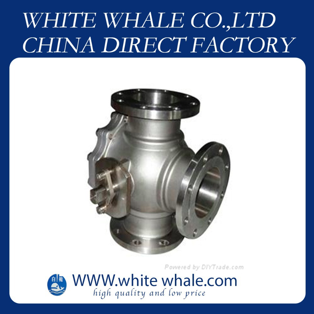 10% off hot sale Flange Connecting L type three way 3/4 inch Stainless Steel 304 mini ball valve