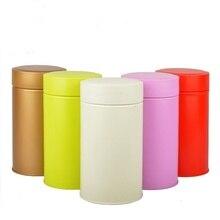 8,5*15,5 см круглая жестяная коробка для чая, коробка для хранения еды
