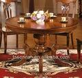 Estilo europeu de madeira mesa de jantar moderna mesa de jantar em madeira Maciça