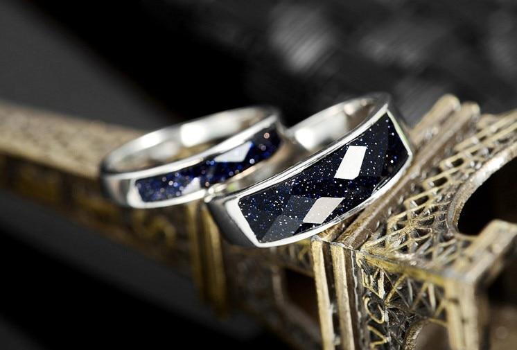 Yeni Romantik Cütlük 100% 925 Sterling Gümüşü, Qadın Nişanlı - Gözəl zərgərlik - Fotoqrafiya 2
