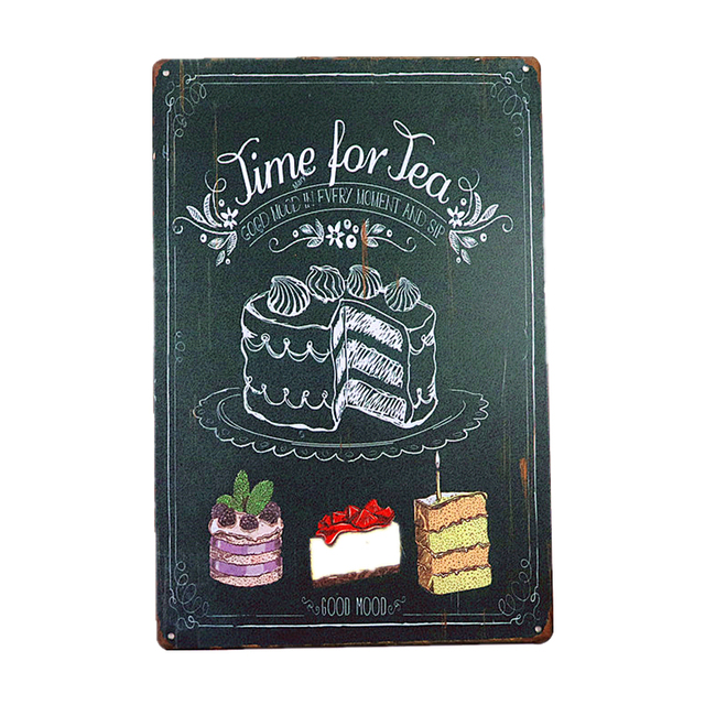 Shabby Chic Metal Tin Sign 4