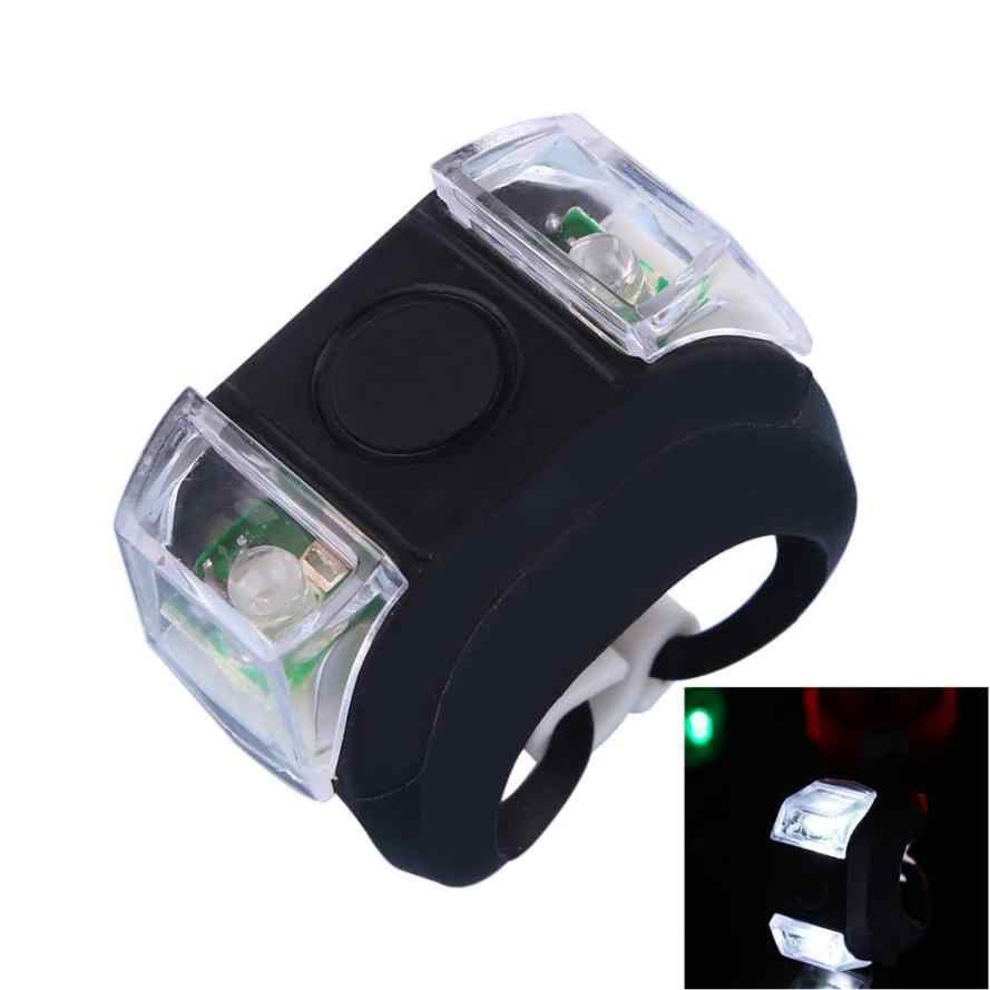 2018 nouveau USB vélo tête lumière vélo résistant à l'eau silicone cyclisme avant lumière tête lihgt 3 Modes lampe torche AP0803