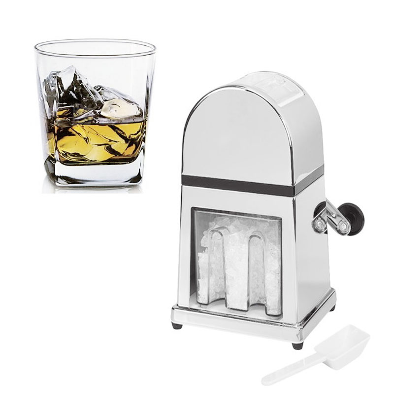 Hand Crank Ice Crusher Shaver Snow Drink Slushy Maker Blender Cocktail Maker stainless steel Ice Crusher Shaver литой диск ifree big byz 7x17 5x114 3 d60 1 et45 нео классик
