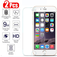 2pcs Protective Glass For IPhone 6 S 6s 7 8 Plus 6splus Tempered Glass On The For Apple I Phone Iphon 6plus 7plus 8plus safety