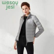 2019 90% white duck down Casual jackets Solid women autumn winter down coat female zip pocket down jacket parkas plus size цены онлайн