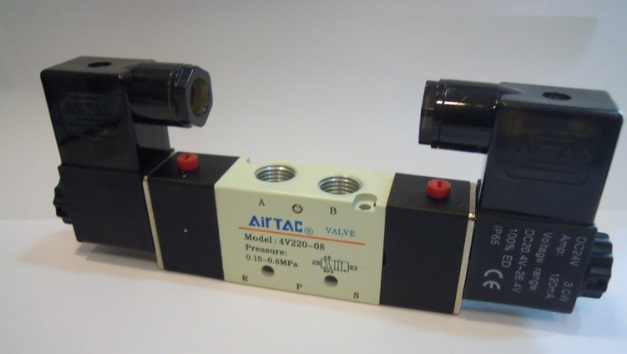 AirTac new original authentic solenoid valve 4V220-08 DC24V new original authentic solenoid valve vf3130 4g 02