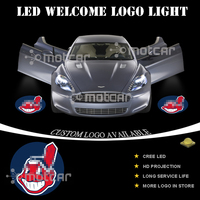 Car Door Welcome Light Battery Wireless Projector Laser Cleveland Indians GOBO Logo Light Ghost Shadow Puddle
