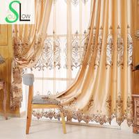 Slow Soul Yellow Luxury European Style Imitation Silk Curtains For Living Room Rideaux Kitchen Cortinas Dormitorio