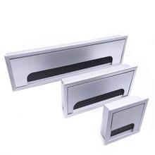 Aluminum Alloy Square Wire Hole Cover Desktop Desk Threading Box QJ888