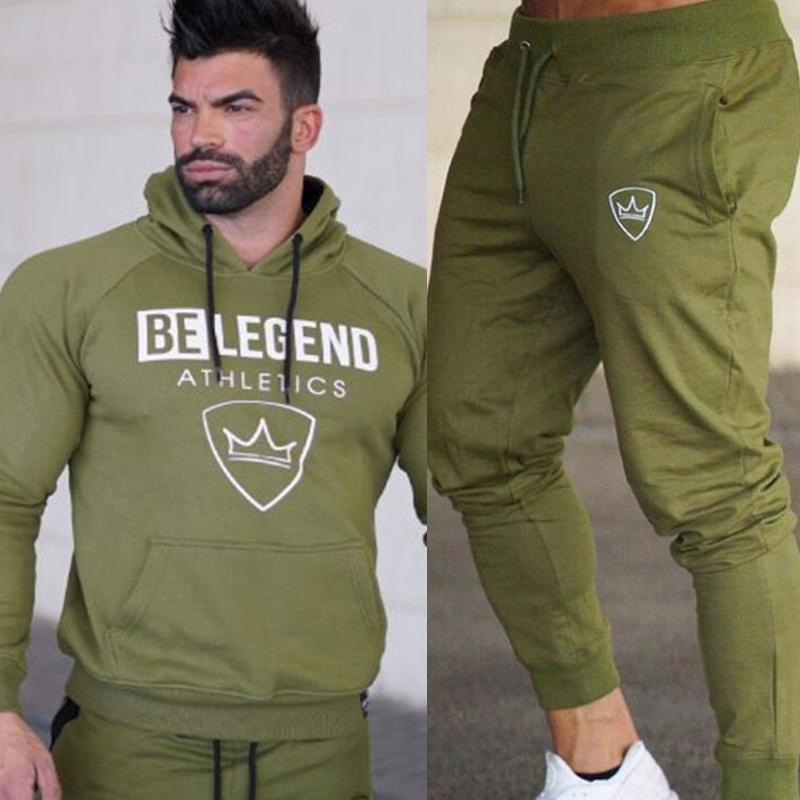 New Men Hoodies And Pants Sets Casual Fashion Sportswear Suit Sweatshirt Sweatpants Male Fitness Jogger Workout Brand Tracksuits