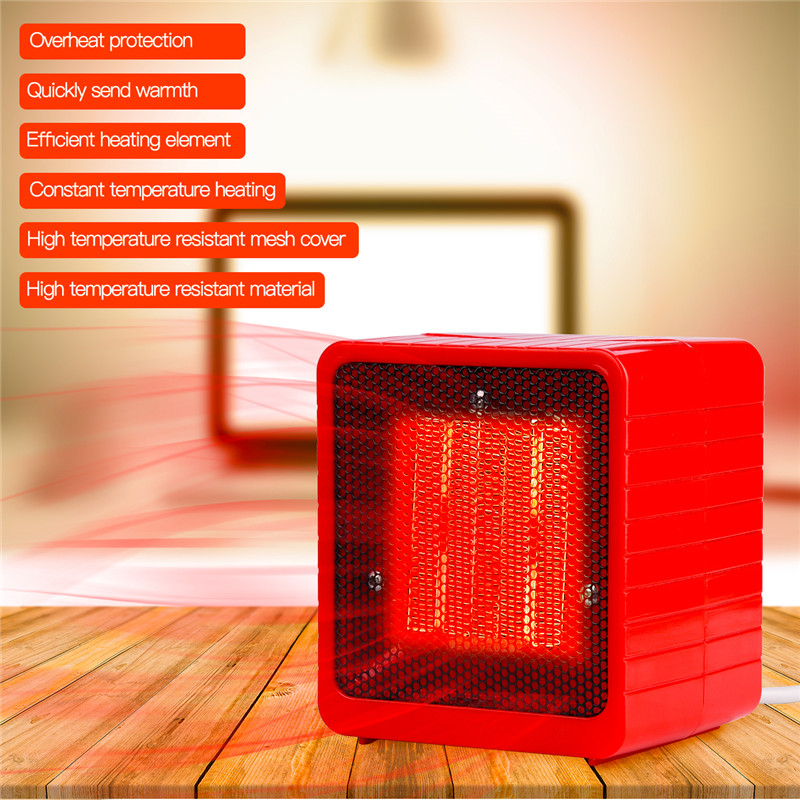 500W Electric Heater Mini Fan Heater Desktop Household Handy Warm Air Blower Room Fan Stove Radiator Warmer Machine For Winter cute mini fan heater desktop household electric heater fast handy heater warm machine for winter small desktop heater