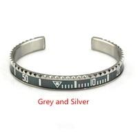 Luxury Famous Brand Digital Stainless Steel Riche Ghost Teeth Bangles& Bracelets Men Cuff Bangle Gift