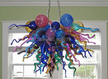 Free Shipping New Arrival Hand Blown Glass Crystal LED Chandelier