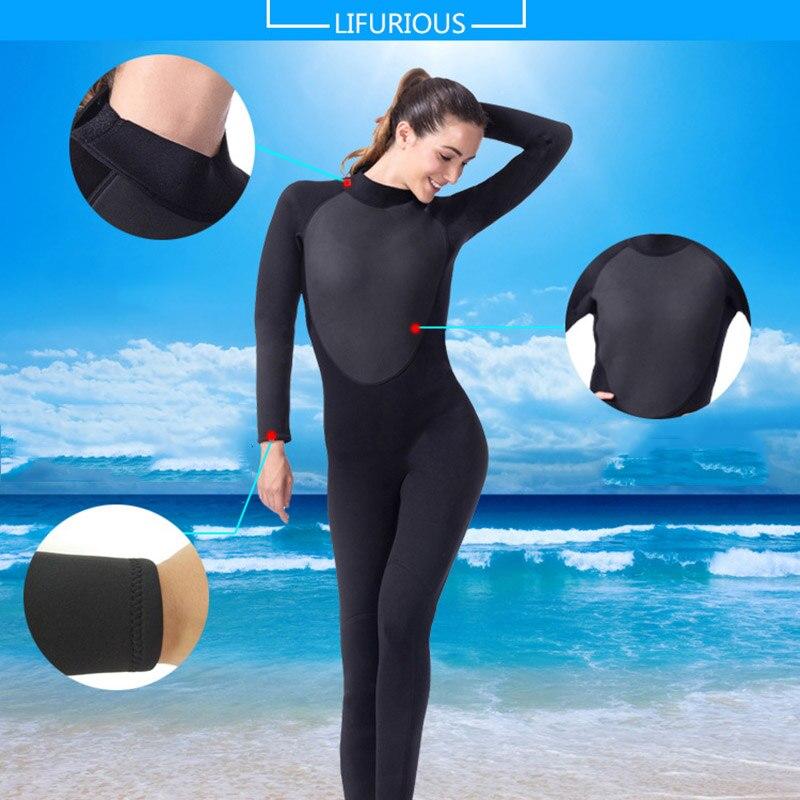 Lifurieux 3 MM femmes combinaison de plongée corps complet néoprène surf combinaisons de protection contre les éruptions cutanées combinaison équipement de natation garder au chaud - 6