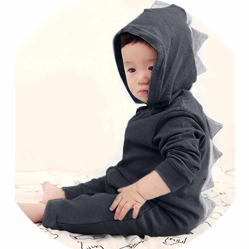 Baru Anak Balita Bayi Dinosaurus Hoodie dan Anak Gadis Anak Lengan Panjang Ritsleting Berkerudung Jaket Kasual Tahan Dr 1-6 tahun 811