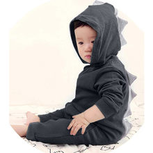 New Autumn Winter Cute Kids Dinosaur Hoodies Children's Girls Boys Hooded Sweatshirts Clothes Outfits Tops #xqx(China)