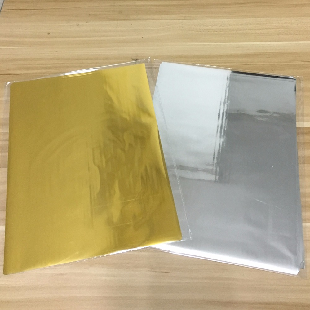 50Pcs A4 Size Laser Silver Hot Stamping Foil Paper Laminating Craft