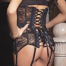 Hot Black Lace Gothic Corsets