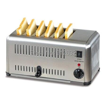 6 шт. хлеб тостер, 6 шт. машина выпечки хлеба, электрический тостер хлеб, электрический тостер конвейер