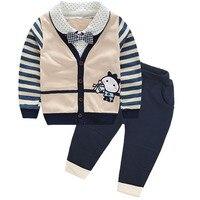 Ragazzo bambini bambino primavera autunno set 100% cotone per 3-6 mesi e 1 a 4 anni di età bambino abbigliamento sportivo abbigliamento