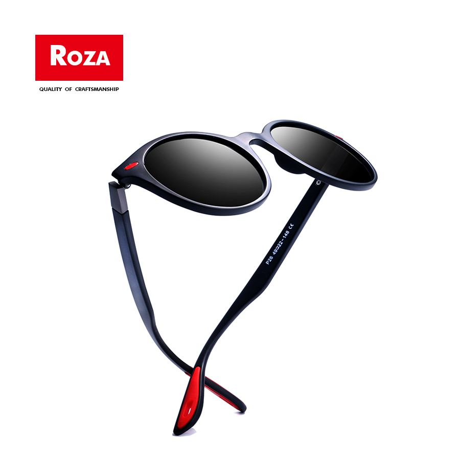 Roza Polarized Sunglasses For Women Cat Eye Rivet Classic Sun Glasses Brand Design Goggle Unisex Gafas De Sol UV400 RZ0625