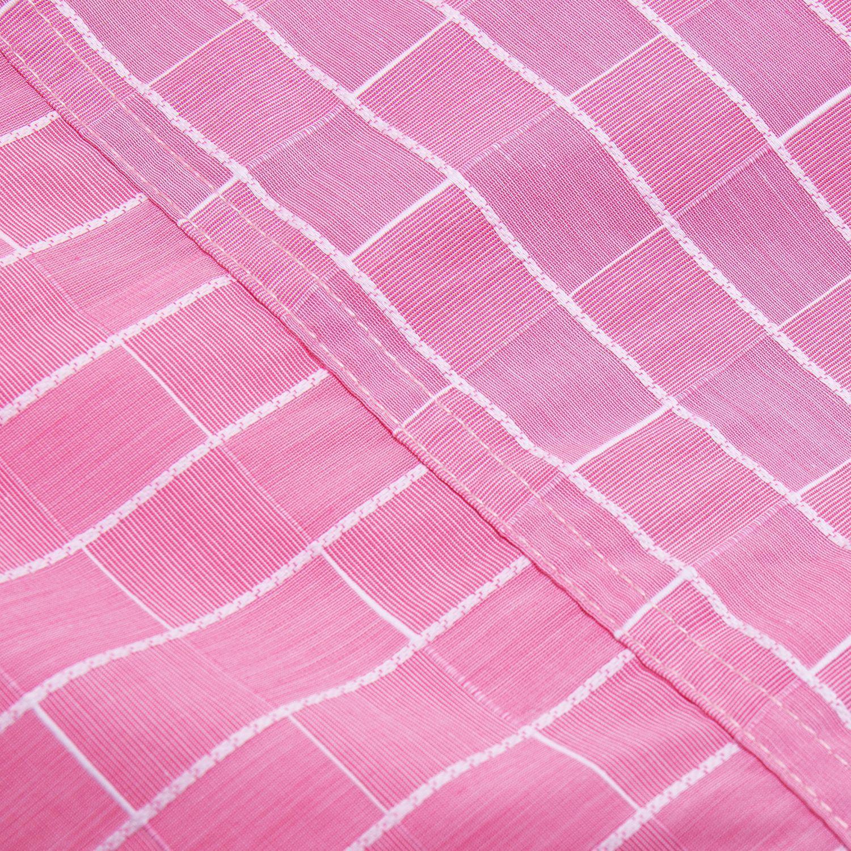 2019 Koszula męskie różowe koszule kratę z długim rękawem  tNwLK