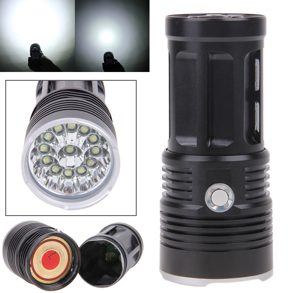 32000 lumens 13xCREE XML T6 LED Flashlight Camping Hunting Torch with 18650 Charger 5 Switch Mode FULI