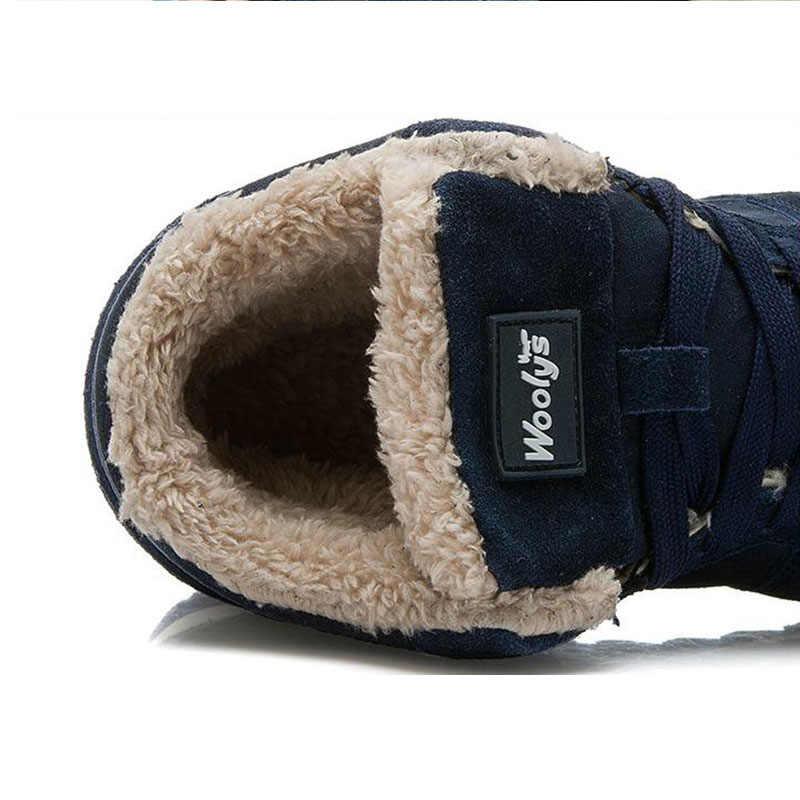 男性は毛皮内部加硫の靴スニーカー男性黒青カジュアルシューズ男性 Krasovki 豪華な冬の靴プラスサイズ